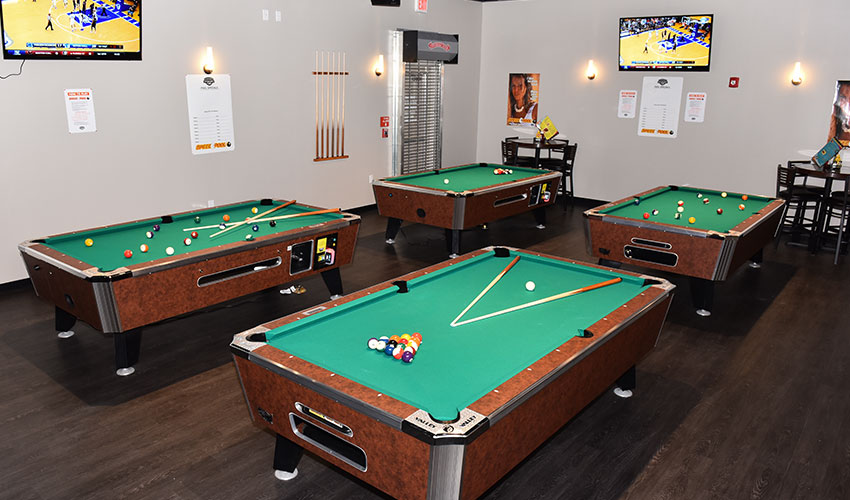 Play Billiards in Pin Strikes, Macon