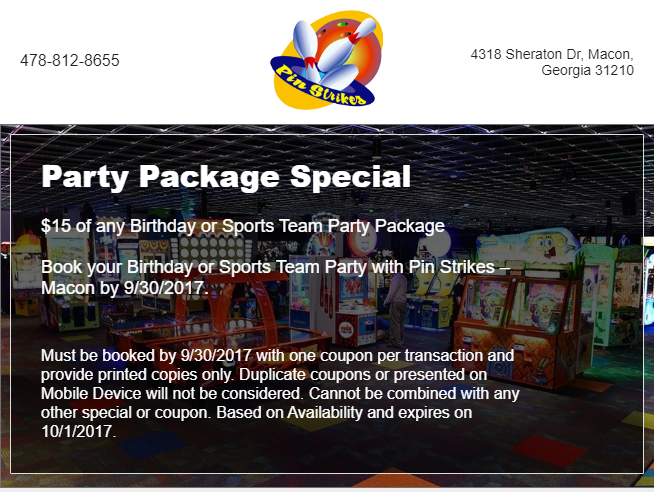 Party Package Special